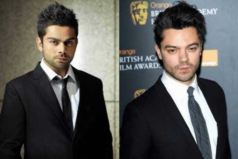 Virat Kohli and Dominic Cooper
