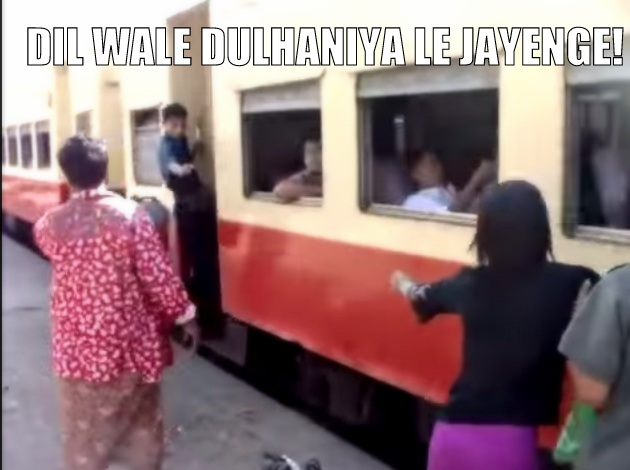 ddlj train catching scene