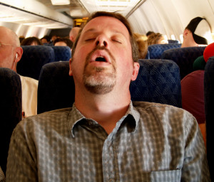 snoring in plane