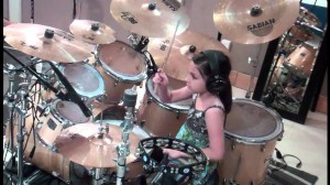 10 Year Old Girl Drummer
