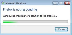 Windows is checking for a solution to the problem…