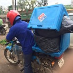 Domino's India Employee Caught Carrying Garbage In Delivery Box