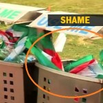 This Is How Our National Flag Was Treated After Independence Day 2014. Matter Of Shame