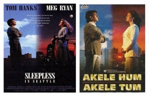 Akele Hum Akele Tum inspired by Sleepless in Seattles