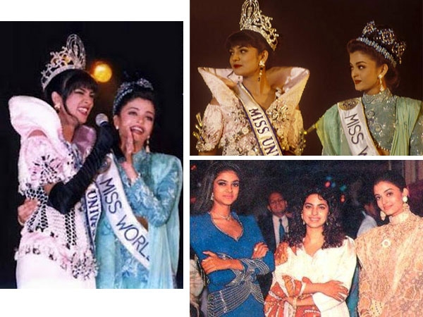2. a 90s picture of miss universe sushmita sen and miss world aishwarya rai