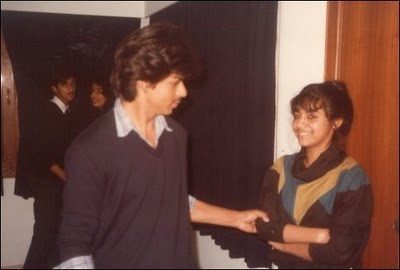21. a young shahrukh khan with gauri khan