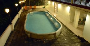 temperature controlled swimming pool